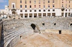Roman Amphitheatre. Lecce. Puglia. Itália. fotos de stock royalty free