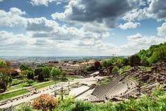 Roman Amphitheatre, Lyon, Francia Fotografía de archivo libre de regalías