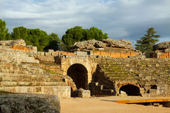 Roman Amphitheatre in Mérida spanien Lizenzfreie Stockfotografie
