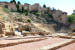 Roman Amphitheatre in Malaga, Spain Stock Image