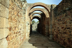 Roman amphitheatre Merida Stock Photos
