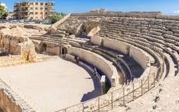 Roman Amphitheatre na Espanha de Tarragona fotografia de stock