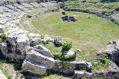 The Roman amphitheatre near Syracuse Royalty Free Stock Image