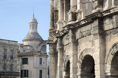 Roman Amphitheatre, Nimes Fotografia Stock Libera da Diritti