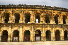 Roman amphitheatre, Nimes, France Royalty Free Stock Image