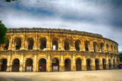 Roman amphitheatre, Nimes, France Royalty Free Stock Photography