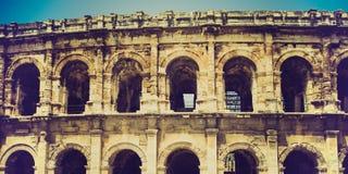 Roman amphitheatre. In Nimes, France Royalty Free Stock Photos