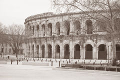 Roman Amphitheatre, Nimes, France Stock Photo
