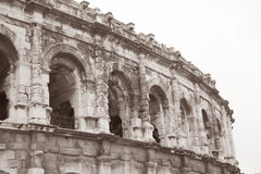 Roman Amphitheatre, Nimes, France Stock Images