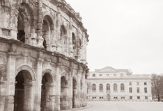 Roman Amphitheatre, Nimes, France Stock Photos