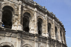 Roman Amphitheatre, Nimes. Roman Amphitheatre at Nimes, France, Europe Stock Images
