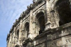 Roman Amphitheatre, Nimes. Roman Amphitheatre at Nimes, France, Europe Royalty Free Stock Photos