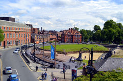 Roman Amphitheatre no centro de Chester City fotos de stock royalty free