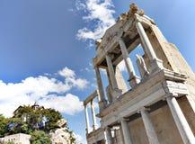 Roman amphitheatre old Plovdiv Stock Photography