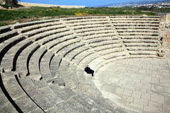 Roman amphitheatre, Paphos, Cyprus Royalty Free Stock Photos