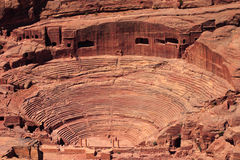 Roman amphitheatre at Petra Royalty Free Stock Photos