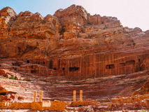 Roman Amphitheatre in Petra Stock Photos