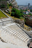 Roman amphitheatre in Plovdiv. Bulgaria Royalty Free Stock Image