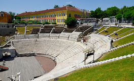 Roman amphitheatre in Plovdiv Stock Photo