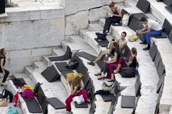 Roman amphitheatre Plovdiv, Bulgaria Stock Image