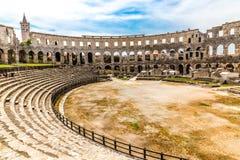 Roman Amphitheatre Pula Arena-Pula, Istria, Croácia imagens de stock royalty free