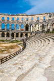 Roman Amphitheatre Pula Arena-Pula, Istria, Croácia foto de stock royalty free