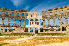 Roman Amphitheatre Pula Arena-Pula,Istria, Croatia. Beautiful View Of Roman Amphitheatre Pula Arena During Summer Day - Pula, Istria, Croatia, Europe Royalty Free Stock Images