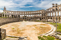 Roman Amphitheatre Pula Arena-Pula,Istria, Croatia Royalty Free Stock Photos