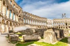 Roman Amphitheatre Pula Arena-Pula, Istria, Kroatien Lizenzfreies Stockbild