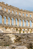 Roman Amphitheatre Pula Arena-Pula, Istria, Kroatien Lizenzfreies Stockfoto