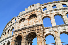 The Roman amphitheatre in Pula. One of the best preserved amphitheatres in the world Stock Images