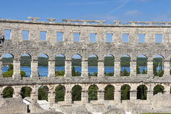 Roman amphitheatre in Pula Stock Images