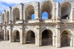 Roman amphitheatre in Arles, France. Roman amphitheatre roman arena in Arles, France Royalty Free Stock Photos