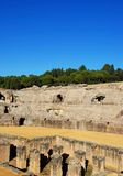 Roman Amphitheatre ruins, Italica, Seville, Spain. Royalty Free Stock Image
