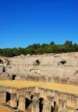 Roman Amphitheatre ruins, Italica, Seville, Spain. Royalty Free Stock Image