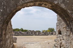 Roman amphitheatre in Solin. Roman archeological finds in Solin near Split, Croatia Stock Photography