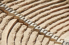 Roman Amphitheatre, Spain. The ancient seats at the Roman Theatre (Amphitheatre) in Cartagena, Murcia in Spain Royalty Free Stock Image