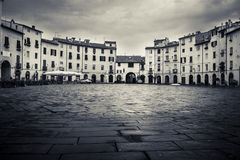 Roman Amphitheatre Square at Lucca in Italy Stock Photography