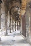 Roman Amphitheatre in stad van Nîmes, Frankrijk Stock Foto's