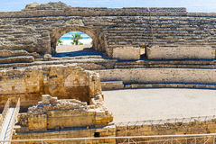 Roman Amphitheatre in Tarragona Spain Stock Photos