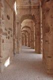 Roman Amphitheatre in Tunesië Stock Afbeeldingen
