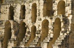 Roman amphitheatre in Tunisia. El Djem - the largest roman amphitheatre in northern Africa Royalty Free Stock Photo