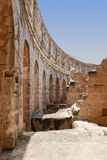 Roman Amphitheatre in Tunisia Royalty Free Stock Photo
