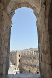 Roman Amphitheatre of turkey Royalty Free Stock Photo