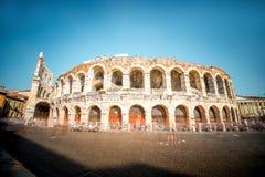 Roman amphitheatre in Verona city Royalty Free Stock Images
