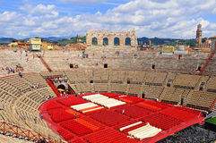 Roman amphitheatre Stock Photo