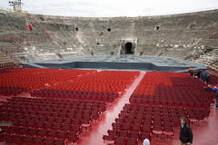Roman amphitheatre in Verona, Royalty Free Stock Photography