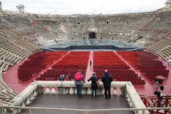 Roman amphitheatre in Verona, Italy. The place of annual festival operas Royalty Free Stock Photos