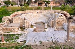 Roman Amphitheatre von Alexandria Stockfotos