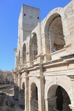 Roman amphitheatre wall in Arles, France Royalty Free Stock Image